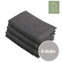 Walra Remade Cotton Gastendoekje 30 x 50 cm 550 gram Grey - 6 stuks