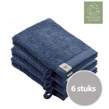 Walra Remade Cotton Washandje 16 x 21 cm 550 gram Blauw - 6 stuks