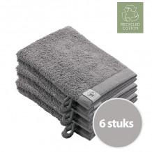 Walra Remade Cotton Washandje 16 x 21 cm 550 gram Taupe - 6 stuks