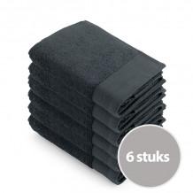 Walra Soft Cotton Voordeelpakket Handdoek 50x100 Antracite - 6 stuks