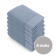 Walra Voordeelpakket Handdoek 50x100 Blue - 6 stuks