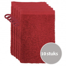 The One Voordeelpakket Washandjes Burgundy