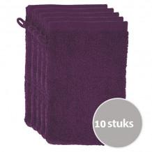 The One Voordeelpakket Washandjes Plum - 10 stuks